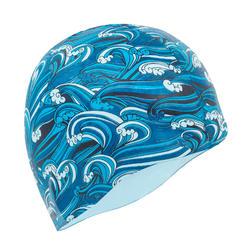 矽膠泳帽500印花 - 海浪藍