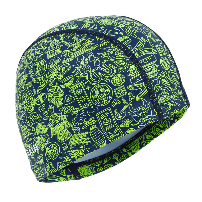 Swim Cap Silicone Mesh Size small - Printed Green