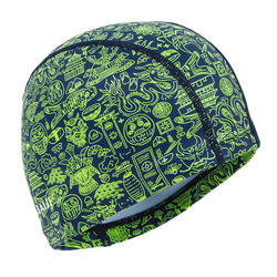 Swim Cap Silicone Mesh Size small - Printed Green