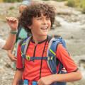 TRIČKA A KRAŤASY PRO CHLAPCE 7–15 LET Turistika - TRIČKO MH550 ORANŽOVÉ  QUECHUA - Turistické oblečení