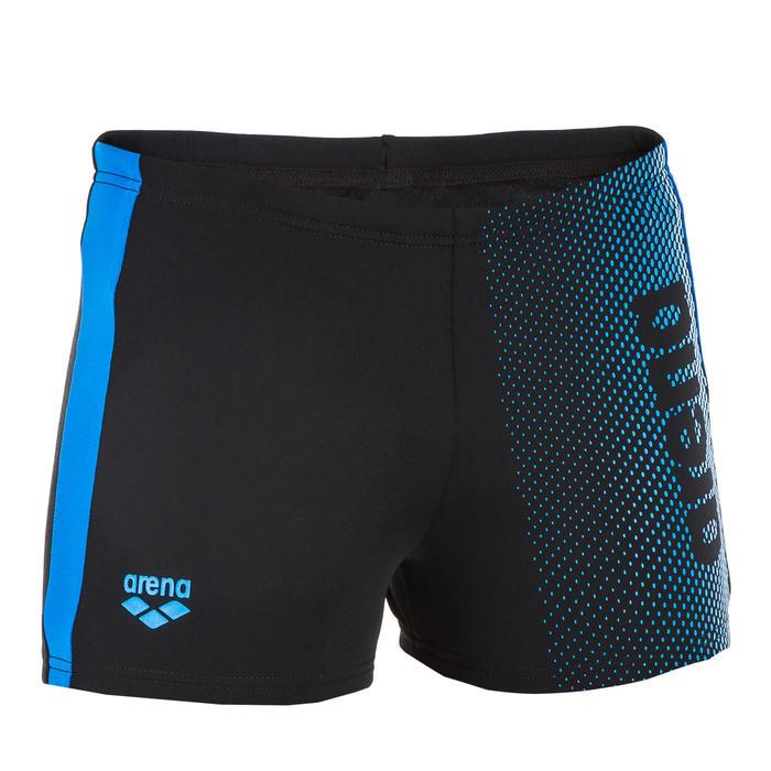 Zwemboxer voor kinderen zwart/blauw