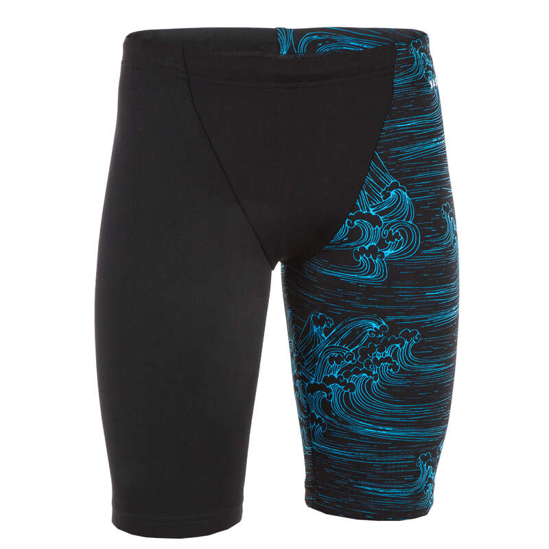 BOY'S SWIMSUITS Swimming - BOY'S JAMMER FIRST BLACK BLUE NABAIJI - Swimwear
