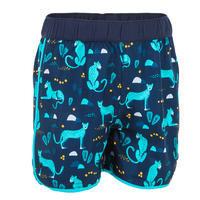Baby Short Swim Shorts - Dark Blue Print