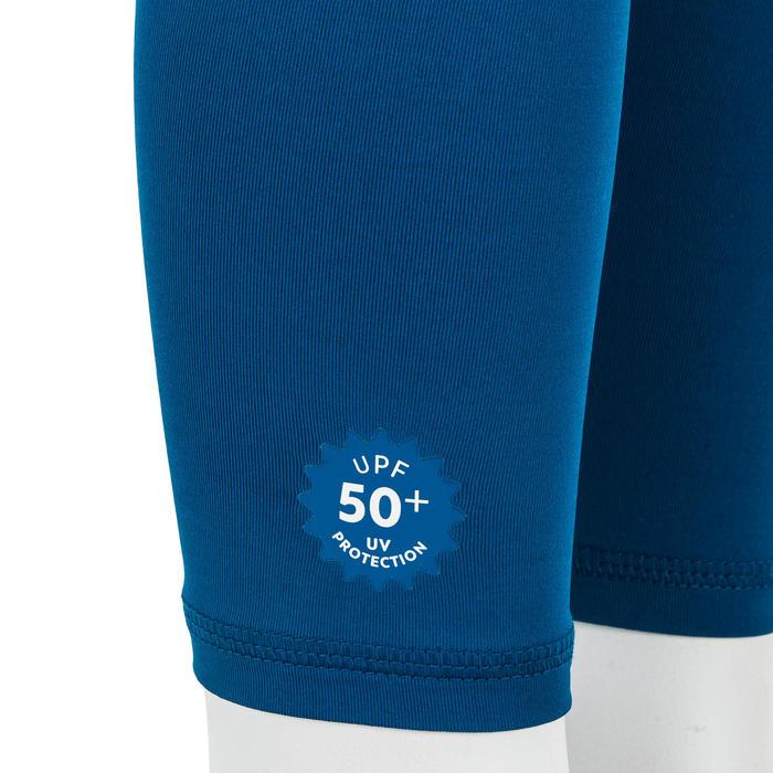 Lange zwembroek voor peuters uv-werend donkerblauw