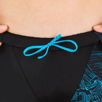 BOY'S JAMMER SWIMSUIT 500 FIRST BLACK SEA BLUE