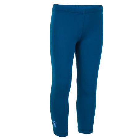 Celana Renang Panjang Perlindungan UV - Biru Tua