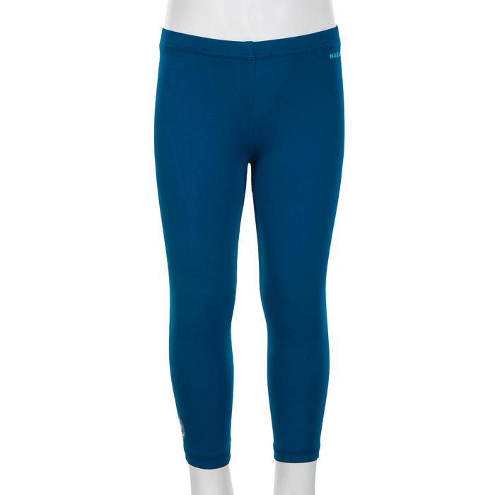 Bas de maillot long anti UV bleu foncé