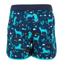 Zwemshort peuter donkerblauw met print