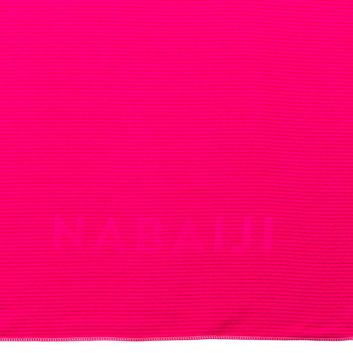 Toalha microfibra com riscas tamanho XL 110 x 175 cm rosa