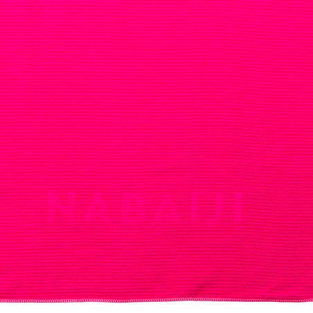 Toalla Rosa Microfibra Rayas Talla XG 110 x 175Cm