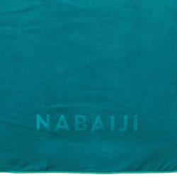 Toalha de natação de microfibras verde Tamanho L 80 x 130 cm