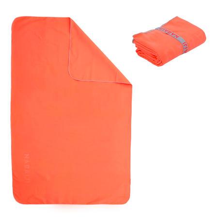 Microfibre towel size M 65 x 90 cm orange