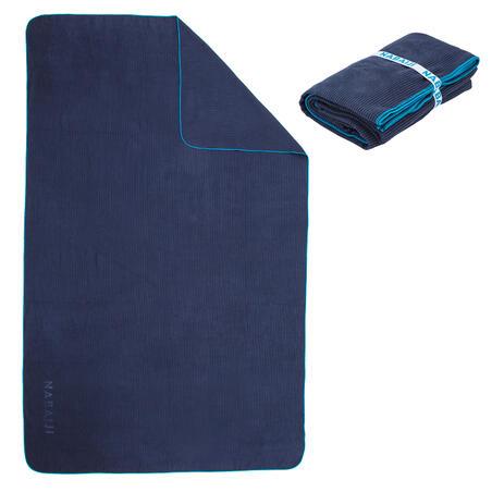 Juostuotas mikropluošto rankšluostis, XL dydžio, 110 x 175 cm