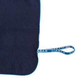 Toalha de natação microfibra às riscas azul escuro tamanho XL 110 x 175 cm