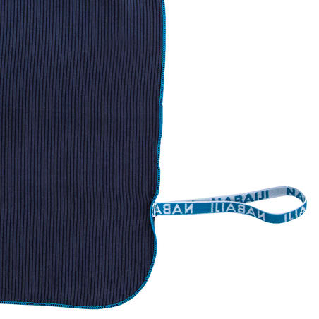 Toalla Azul Microfibra Rayas Talla XG 110 x 175cm