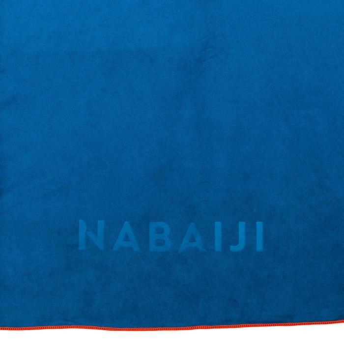 Serviette microfibre compacte bleu taille L 80 x 130 cm