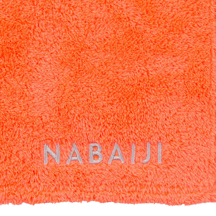 Serviette microfibre douce orange taille XL 110 x 175 cm