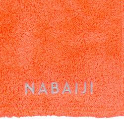 Zachte microvezel handdoek oranje maat XL 110 x 175 cm