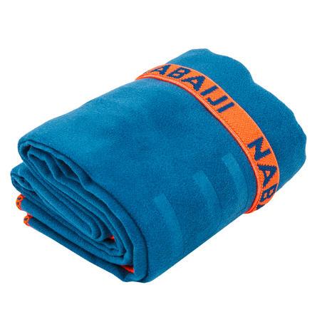 Serviette de bain microfibre bleu taille XL 110 x 175 cm