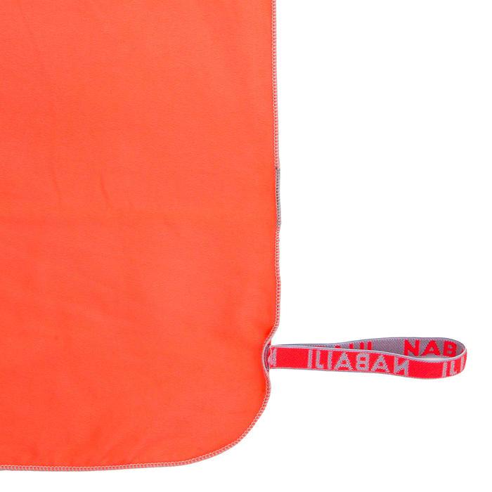 Serviette de bain microfibre orange taille M 65 x 90 cm