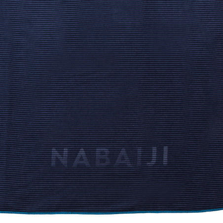 Microfibre striped towel size XL 110 x 175 cm - blue