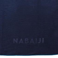 Serviette microfibre à rayures taille XL 110 x 175 cm bleu