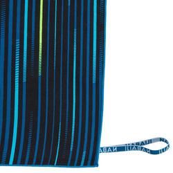 Compacte microvezelhanddoek met print maat XL 110 x 175 cm