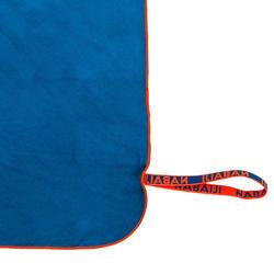 Compacte microvezelhanddoek blauw maat L 80 x 130 cm