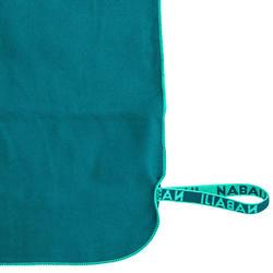Serviette de bain microfibre vert taille L 80 x 130 cm