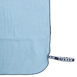Microfibre striped towel size L 80 x 130 cm - Grey