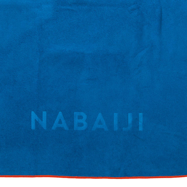 Microfiber towel size XL 110 x 175 cm - Blue orange