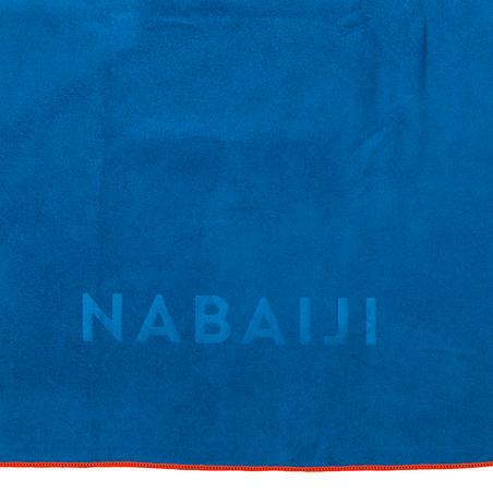 Ultra compact microfibre towel size XL 110 x 175 cm - blue