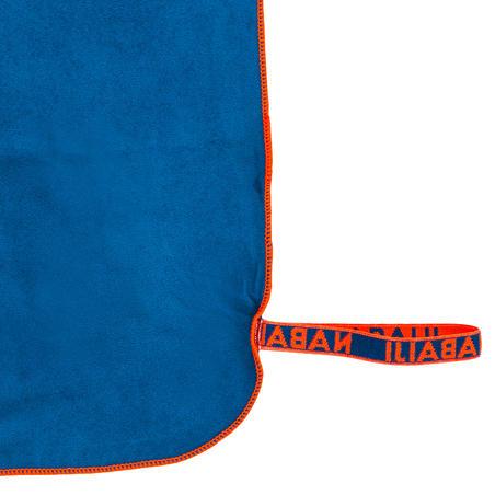 Handuk microfiber petrol blue sangat rapat ukuran XL 110 x 175 cm