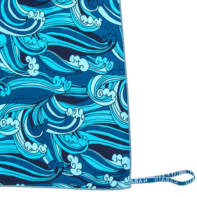 Microvezel badhanddoek maat XL 110 x 175 cm met print