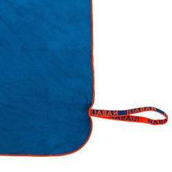 Microvezelhanddoek blauw supercompact maat M 65 x 90 cm