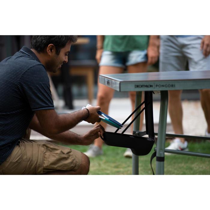 PORTE RAQUETTES AMOVIBLE POUR TABLE DE PING PONG NOIRE