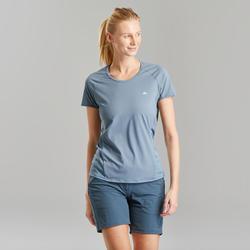 Tee-Shirt manches courtes de randonnée montagne - MH500 - Femme