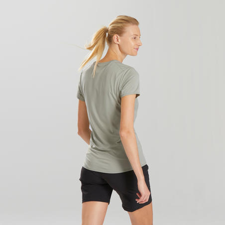 MH100 Short-Sleeved Mountain Hiking T-Shirt - Women