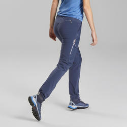 Damesbroek voor fast hiking FH500 blauw