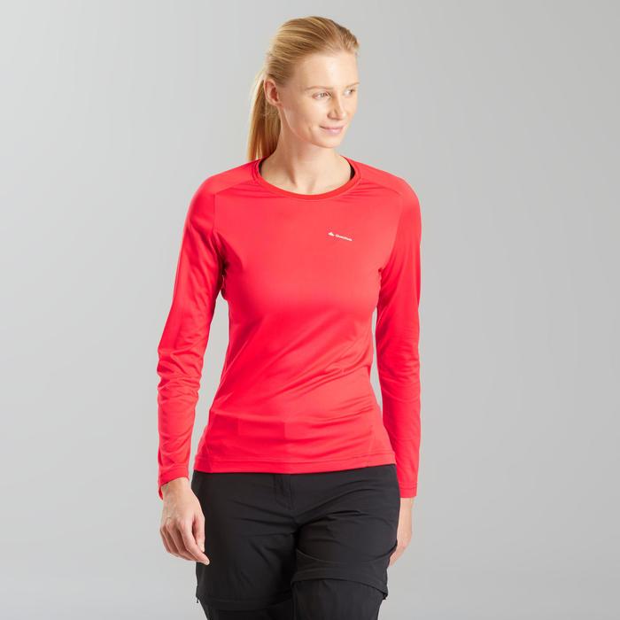 T-shirt met lange mouwen voor bergwandelen MH550 dames