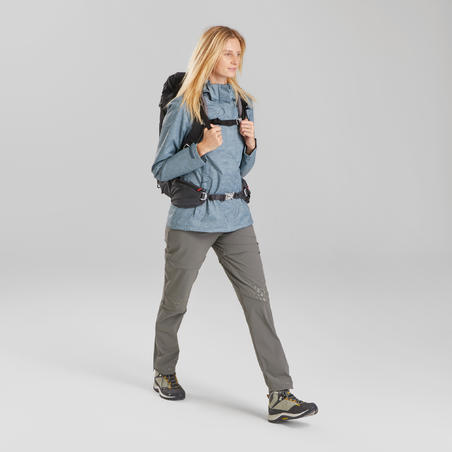 Women's waterproof mountain hiking jacket - MH100