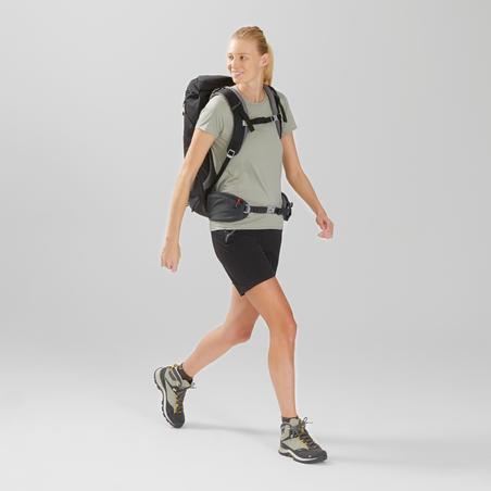 Women's Mountain Walking Short-Sleeved T-Shirt MH100