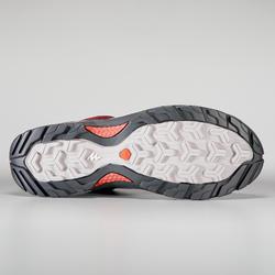 Women's Mountain Walking Waterproof Shoes - MH500 - Burgundy