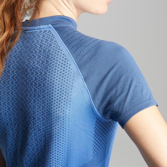 Tee shirt de randonnée rapide FH900 Femme Bleu.