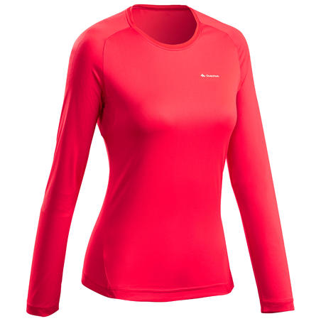 Women's Long-sleeved Mountain Walking T-shirt MH550