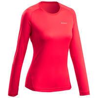 Жіноча футболка 550 для гірського туризму, з довгими рукавами - Коралова