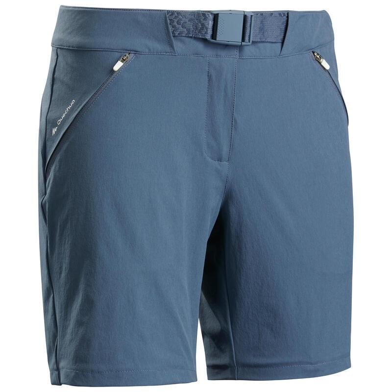 Short voor bergwandelen dames MH500 grijsblauw