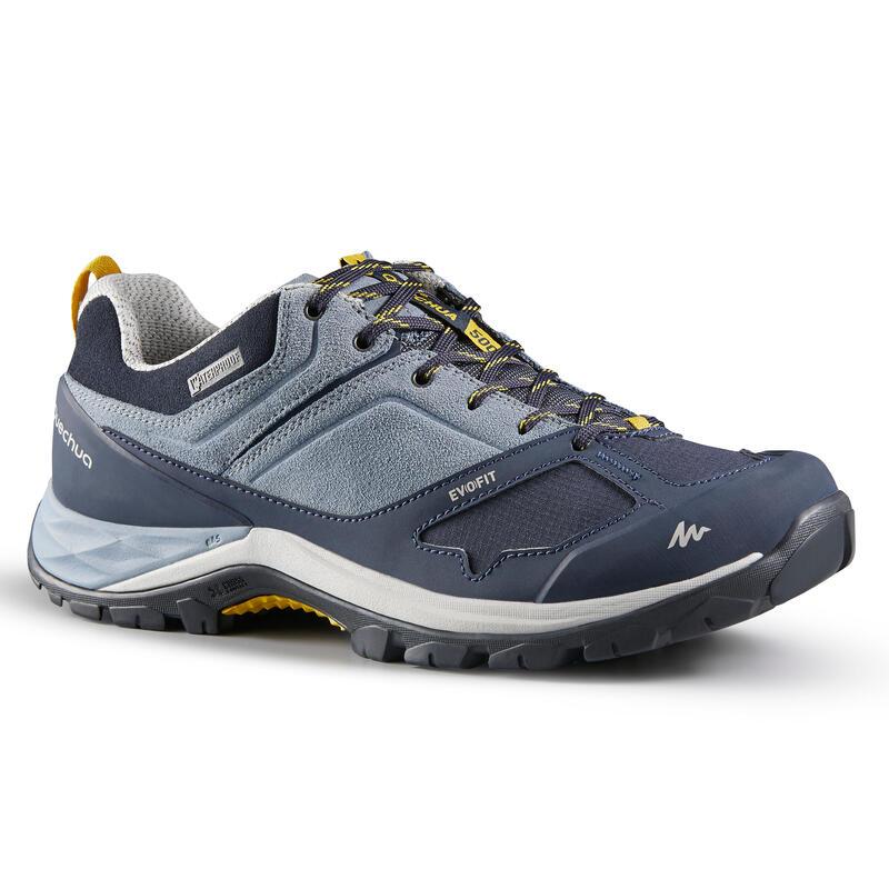 Dámské turistické nepromokavé boty MH 500 modro-žluté