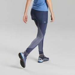 Women's Fast Hiking Short Leggings FH900 - Blue