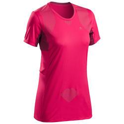Camiseta De Manga Corta De Montaña y Trekking Forclaz MH900 Mujer Rosa